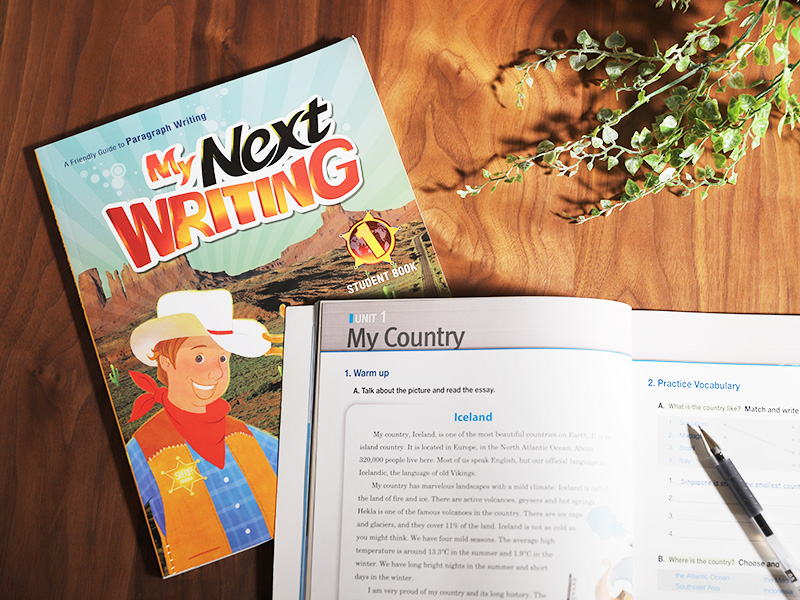 ジュニア・ライティング&コミュニケーションクラスのテキスト My Next WRITING