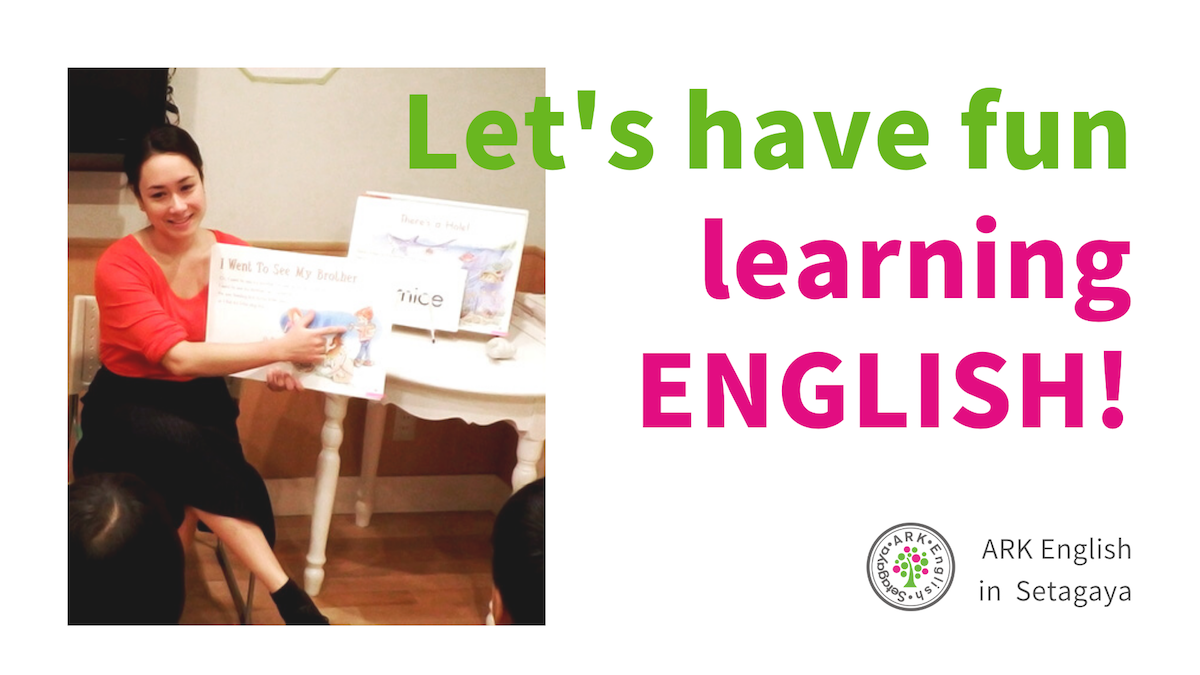 Let's have fun learning ENGLISH! ARK English in Setagaya