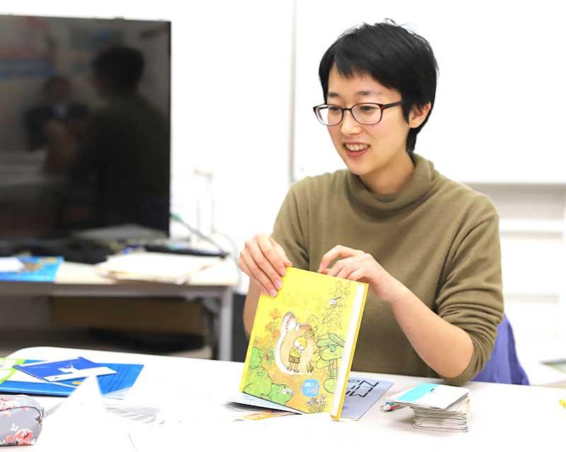 先生とコミュニケーションを取りながら、英語が楽しい!という感覚を大切にします